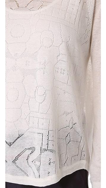 Madewell Loretta Floral Stitch Pullover