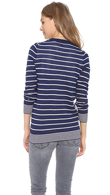 Madewell Striped Jordan Cardigan