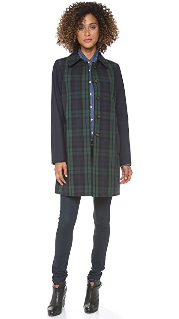 Madewell Clean Plaid Mac Coat