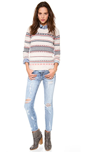Madewell Cora Fair Isle Wool Sweater