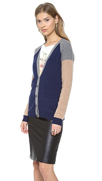 Madewell Colorblock Grant Cardigan Sweater