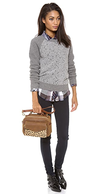 Madewell Eaton Shoulder Bag in Printed Haircalf