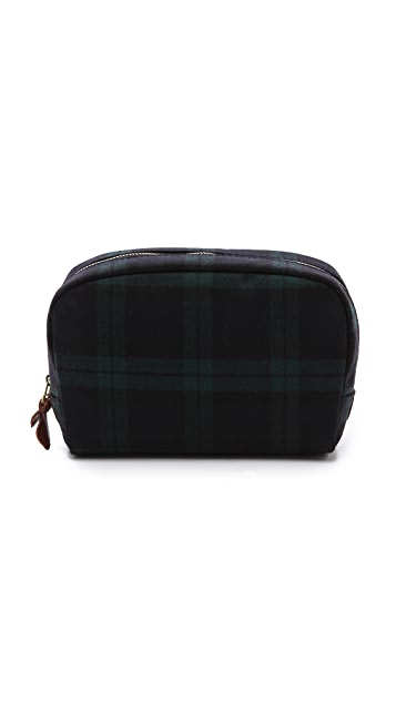 Madewell Cosmetic Pouch in Dark Plaid
