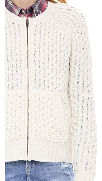 Madewell Honeycomb Sweater Jacket