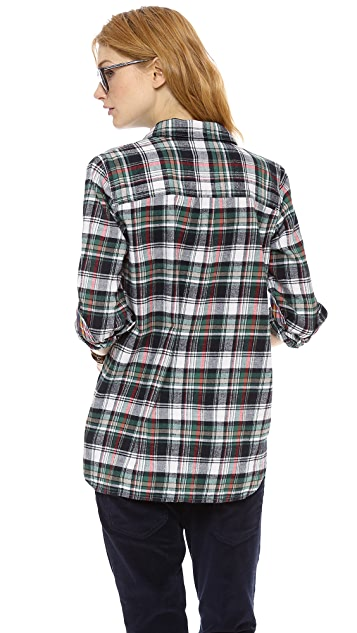 Madewell Ex BF Flannel Plaid Boyshirt