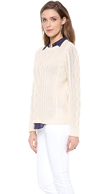 Madewell Lance Cable Pullover