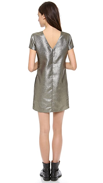 Madewell Metallic T Shirt Dress