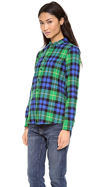 Madewell Eden Plaid Boyshirt