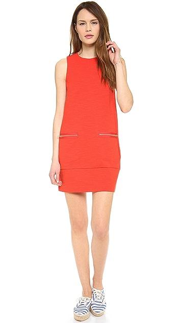 Madewell Sleeveless Zip Shift Dress