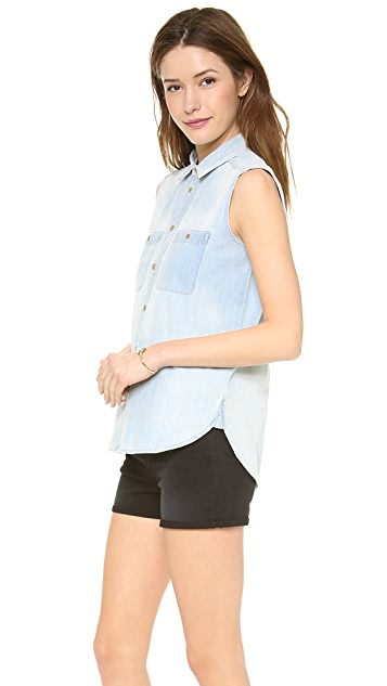 Madewell Sleeveless Chambray Top