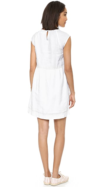 Madewell Linen Sandwave Dress