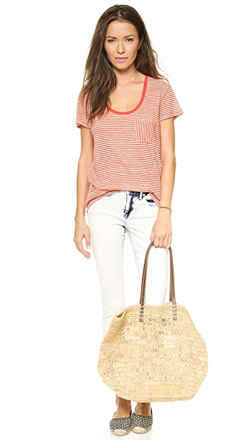 Madewell Linen Time Off Tee