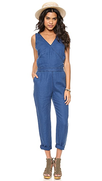 Madewell Crossback Chambray Jumpsuit