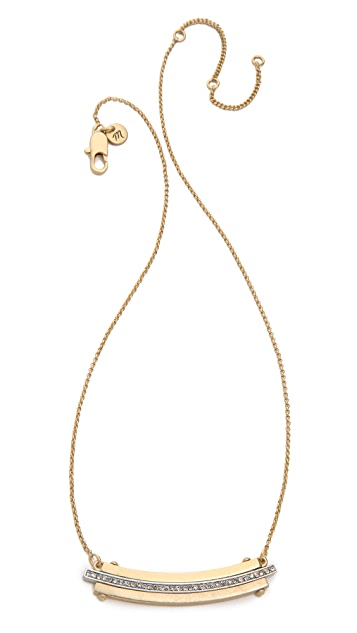 Madewell Pave Wavestack Necklace