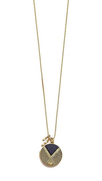 Madewell Lapis Amulet Locket Necklace