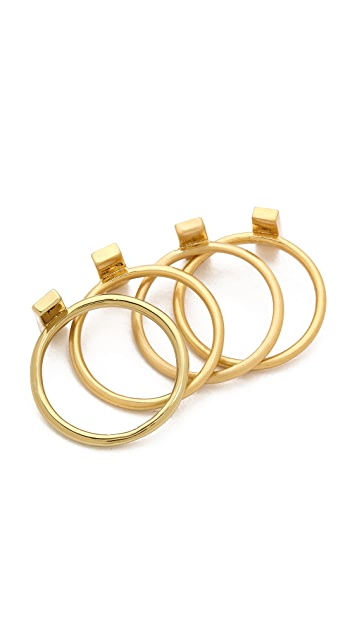 Madewell Bar Stacking Rings