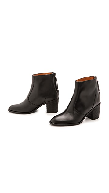 Madewell Slim Back Zip Billie Booties