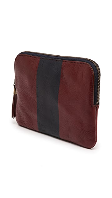 Madewell Medium Pouch with Painted Stripe