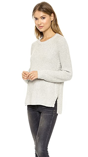 Madewell Rib Evelyn Crew Neck Pullover