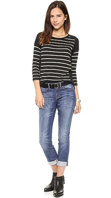 Madewell Stripe Block Long Sleeve Top