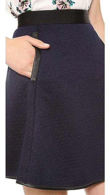 Madewell Luna Quilted Skater Skirt