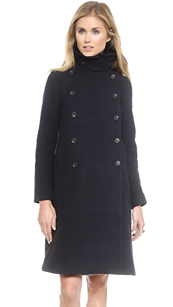 Madewell Long Overized Trapeze Peacoat