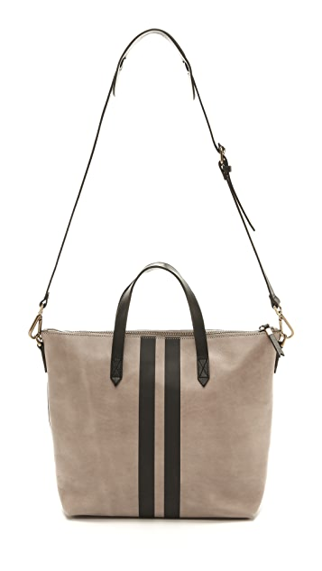 Madewell Striped Zip Transport Bag