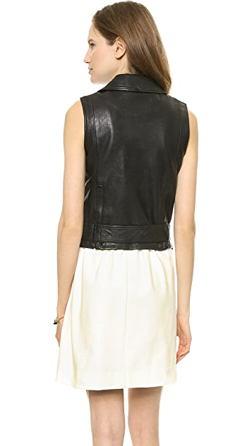Madewell Leather Tour Vest