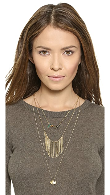 Madewell Layered Lula Crystal Necklace