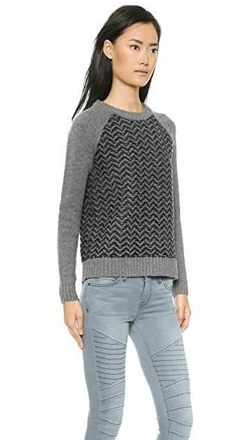 Madewell Reverse Pattern Herringbone Pullover