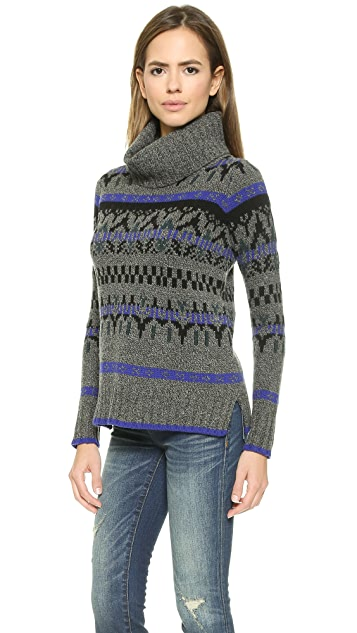 Madewell Fair Isle Turtleneck Sweater