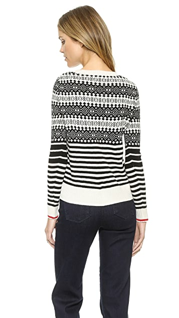 Madewell Fair Isle Stripe Mix Sweater | SHOPBOP