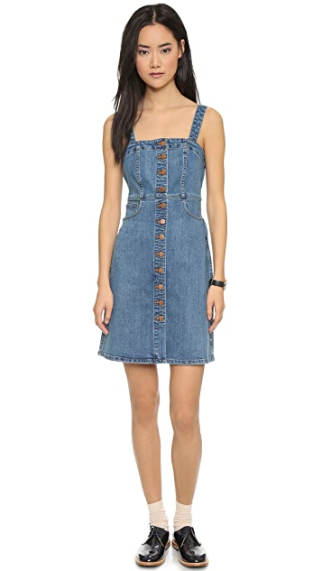 28639c6dd47 Madewell Denim Overall Dress ...