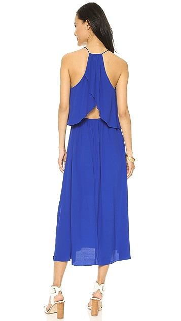Madewell Flutter Back Overlay Maxi Dress