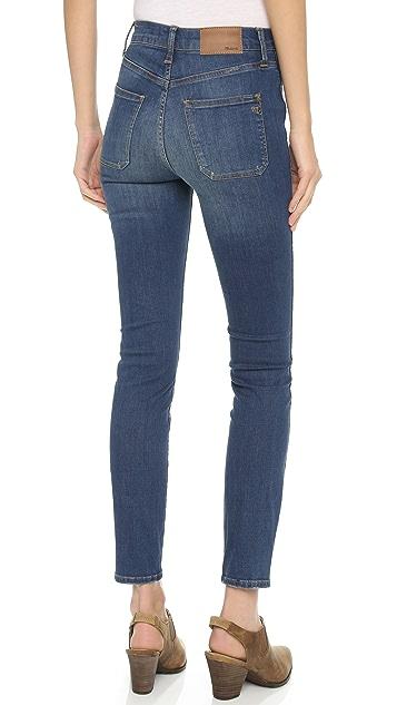 Madewell High Rise Skinny Sailor Pocket Jeans
