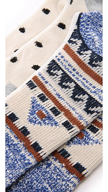 Madewell Dot Kilim No Show Sock Set