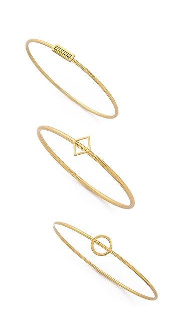 Madewell Open Shape Bracelet Stack