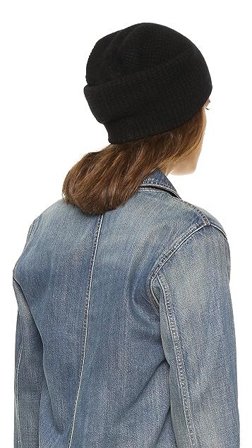 9d3ce5f04 Cashmere Waffle Knit Hat