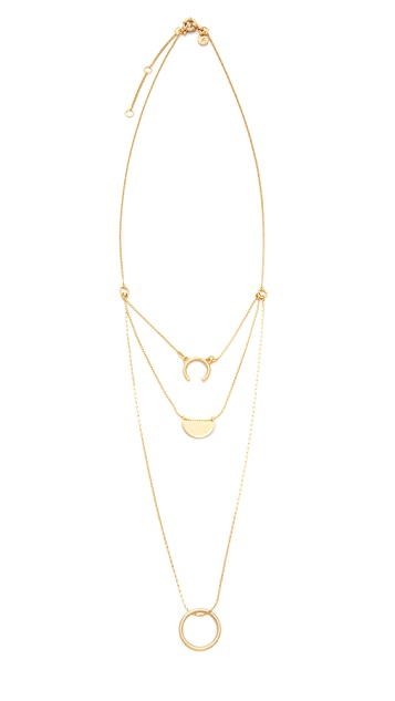 Madewell Triple Layer Open Shape Necklace