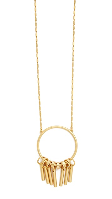 Madewell Fringe Hoop Statement Necklace