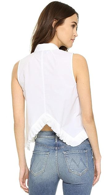 Madewell Pagoda Crop Shirt