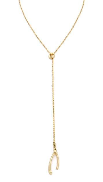 Madewell Wishbone Lariat Necklace