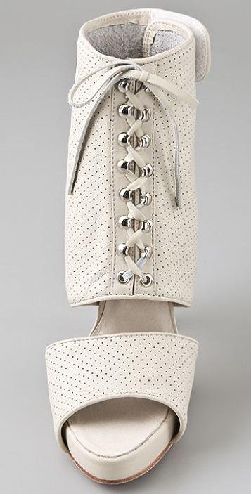Madison Harding Tilden Perforated Platform Booties