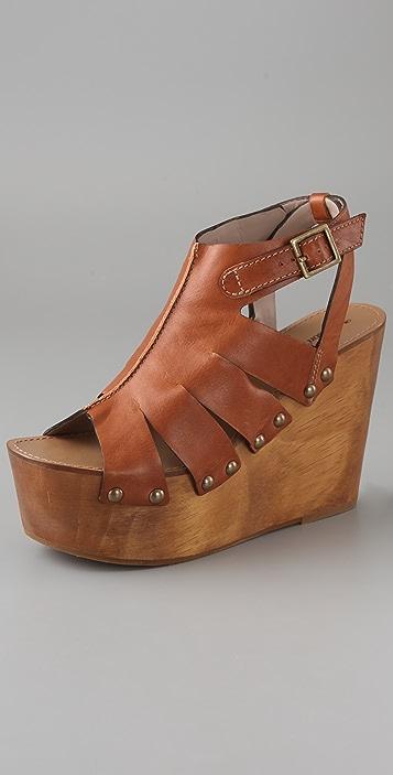 Madison Harding Terrapin Wooden Platform Sandals