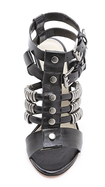 Madison Harding Suzie Metal Ring Sandals