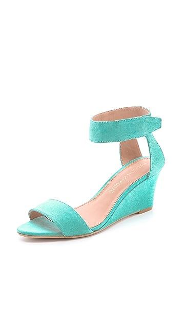 Madison Harding Shavonne Low Wedge Sandals