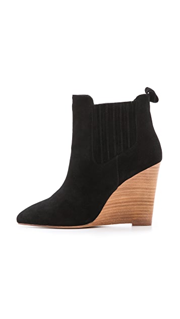 Madison Harding Nero Chelsea Wedge Booties