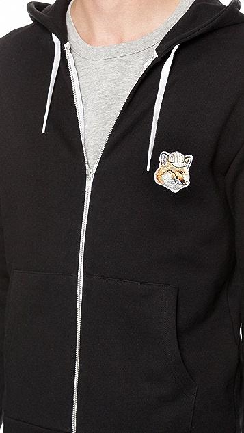 Maison Kitsune Zip Front Hoodie
