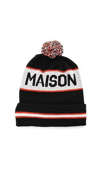 Maison Kitsune Supporter Pom-Pom Hat