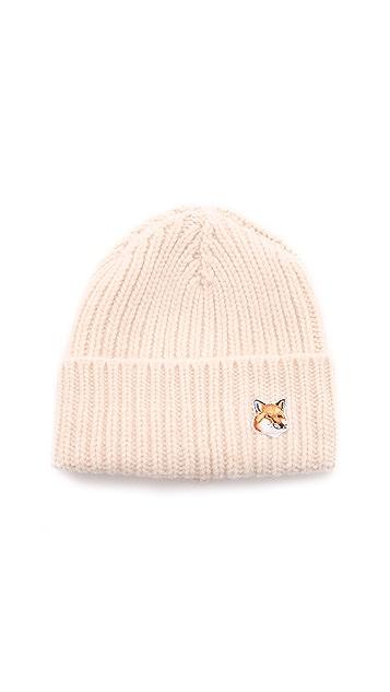Maison Kitsune Ribbed Hat
